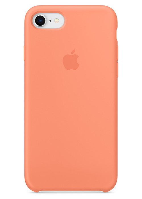 Чехол для iPhone 7/8 Apple Silicone Case Lux (Peach)