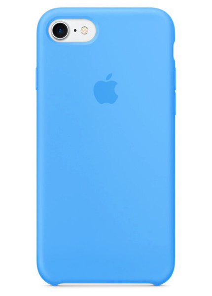 Чехол для iPhone 7/8 Apple Silicone Case Premium (Лазурный)