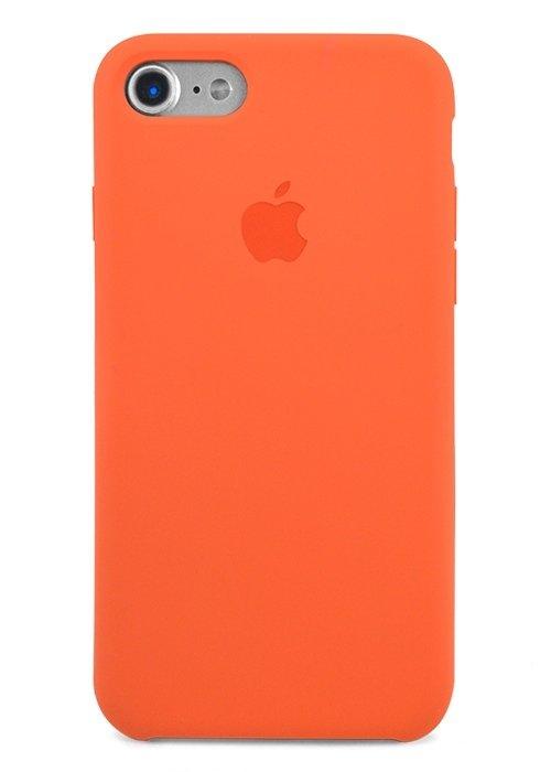 Чехол для iPhone 7/8 Apple Silicone Case Premium (Оранжевый)