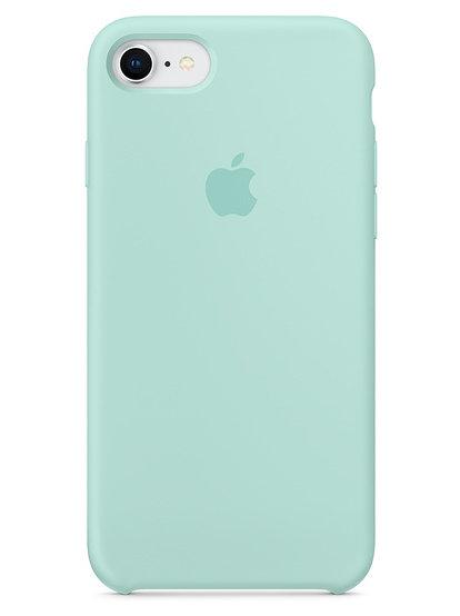 Чехол для iPhone 7/8 Apple Silicone Case Simple (Бирюзовый)