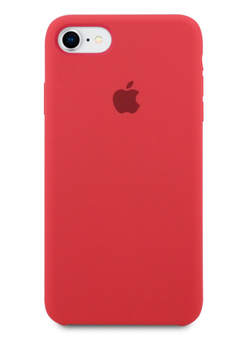Чехол для iPhone 7/8 Apple Silicone Case Simple (Вишневый)