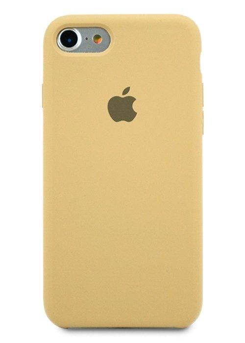 Чехол для iPhone 7/8 Apple Silicone Case Simple (Карамельный)