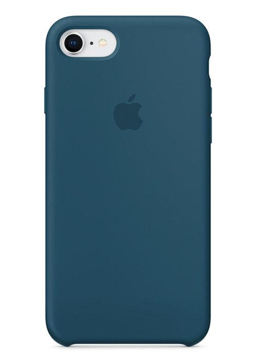 Чехол для iPhone 7/8 Apple Silicone Case Simple (Сине-зеленый)