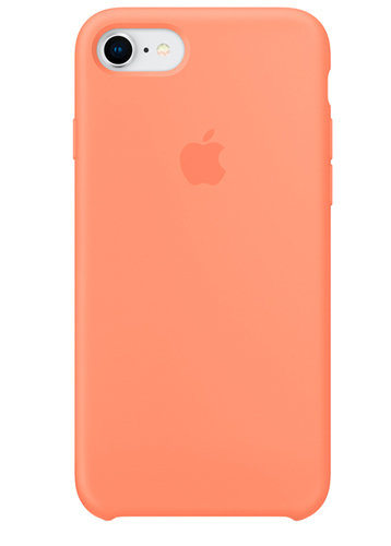 Чехол для iPhone 7/8 Apple Silicone Case Simple+ (Светло-оранжевый)