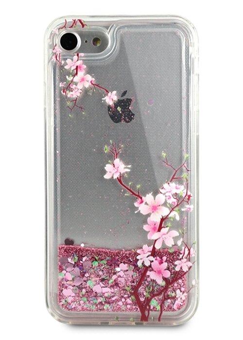 Чехол для iPhone 7/8 Beauty shine силикон (Сакура)