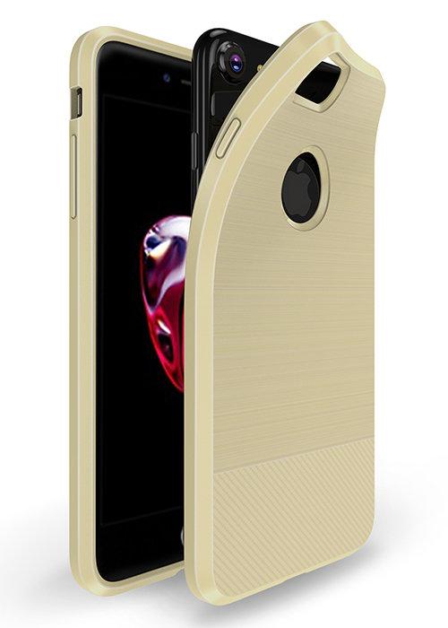 Чехол для iPhone 7/8 Dux Ducis с магнитом (Бежевый)
