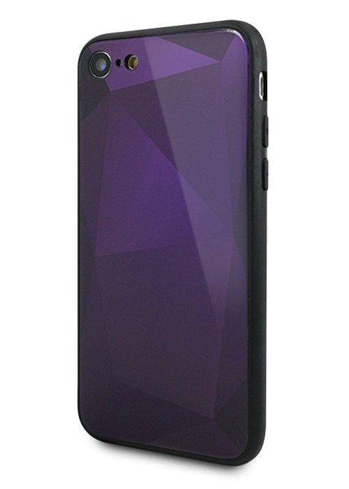 Чехол для iPhone 7/8 Fracture mirror (Фиолетовый)