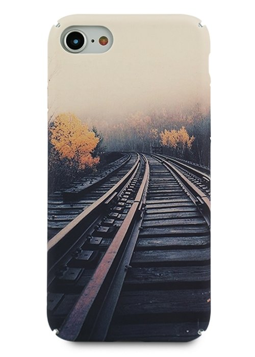 Чехол для iPhone 7/8 Freestyle PC (Железная дорога)