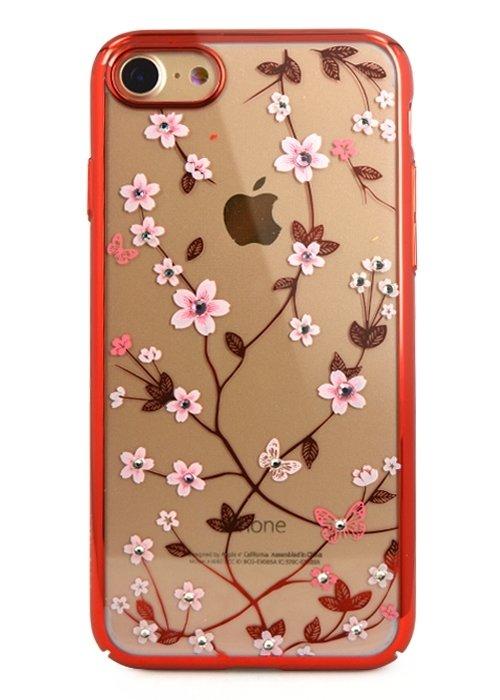 Чехол для iPhone 7/8 Garden (Красный)