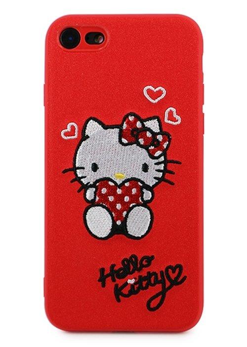Чехол для iPhone 7/8 Kitty (Красный)