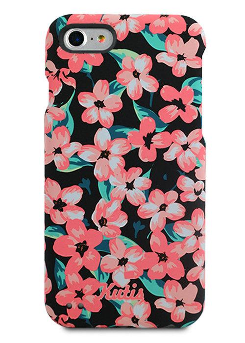 Чехол для iPhone 7/8 Kutis 360 PC (Цветы яблони на черном)