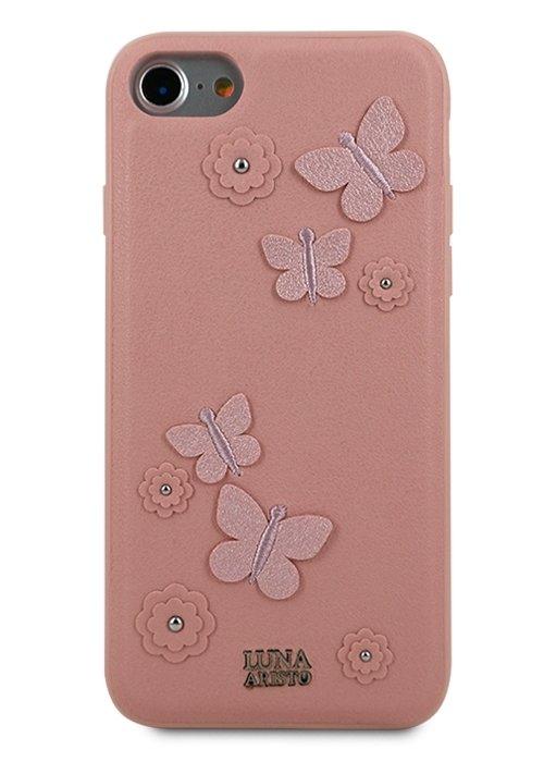 Чехол для iPhone 7/8 Luna Aristo Dale силикон+кожа (Pink)