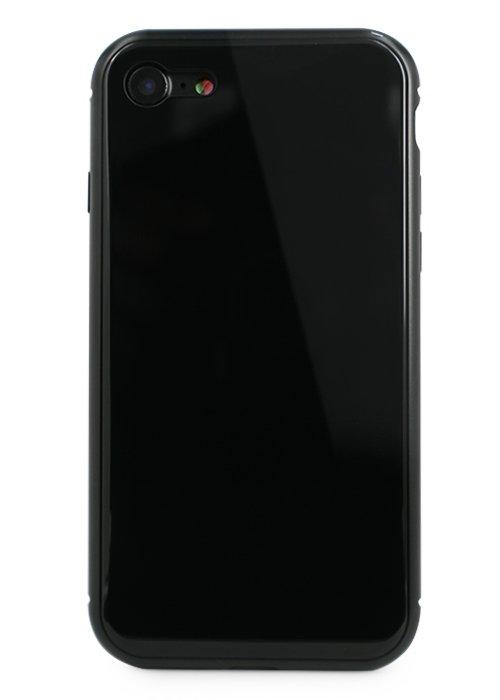 Чехол для iPhone 7/8 Magnet glass case (Черный)
