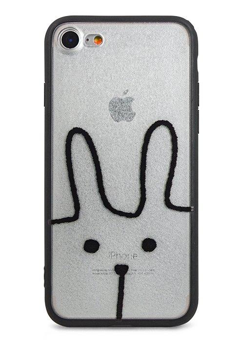 Чехол для iPhone 7/8 Pictorial PC + силикон (Hare)