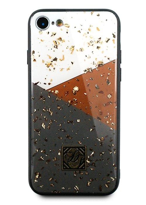 Чехол для iPhone 7/8 Pictures foil силикон (Линии)