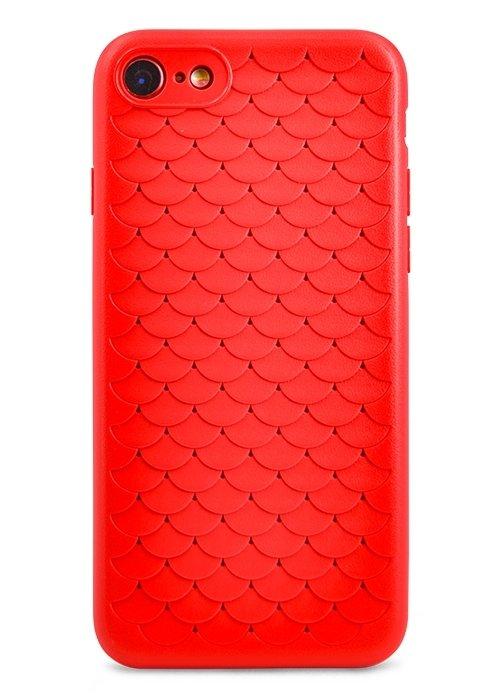 Чехол для iPhone 7/8 Relief scale (Красный)