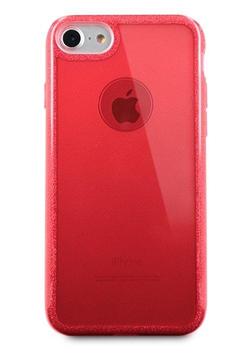 Чехол для iPhone 7/8 Sheer edge силикон (Красный)