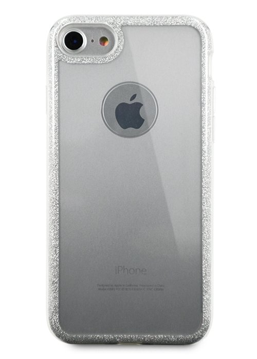 Чехол для iPhone 7/8 Sheer edge силикон (Серебро)