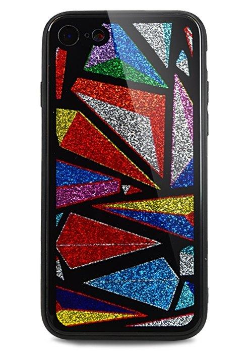 Чехол для iPhone 7/8 Shiny glass (Абстракция)