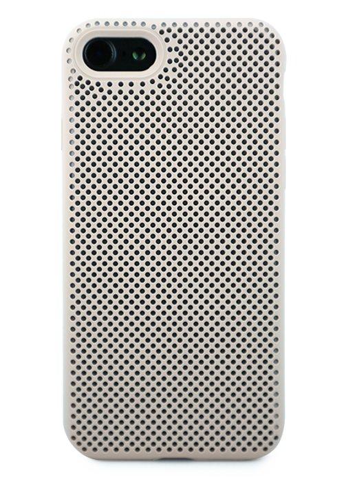 Чехол для iPhone 7/8 Silicone case Perforated (Бежевый)