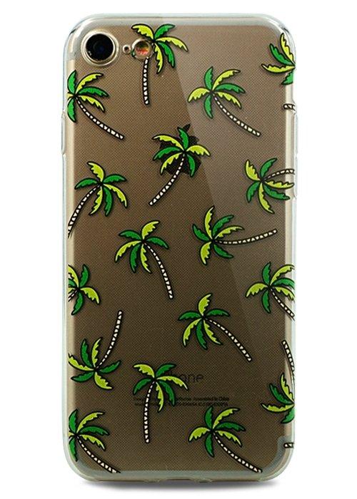 Чехол для iPhone 7/8 Spring picture силикон (Пальмы)
