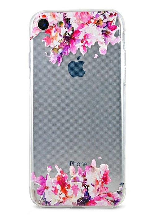Чехол для iPhone 7/8 Summer mood силикон (Art flowers)