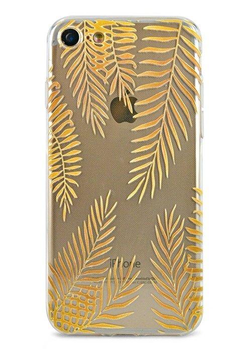 Чехол для iPhone 7/8 Summer mood силикон (Golden leaves)