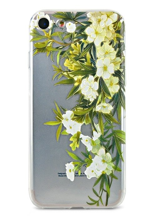 Чехол для iPhone 7/8 Summer mood силикон (Белые цветы)