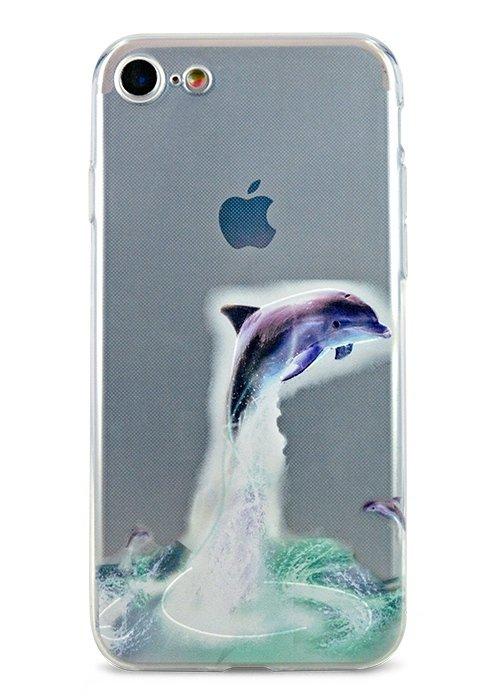 Чехол для iPhone 7/8 Summer mood силикон (Дельфин)