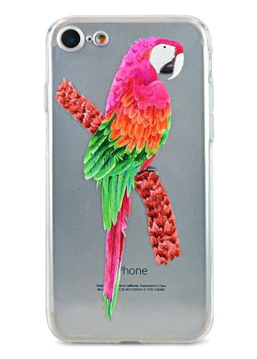 Чехол для iPhone 7/8 Summer mood силикон (Попугай)