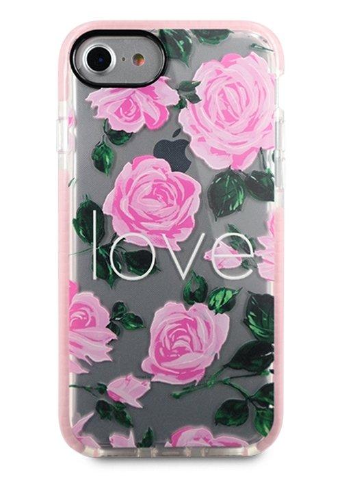 Чехол для iPhone 7/8 Sweet силикон (Love in flowers)