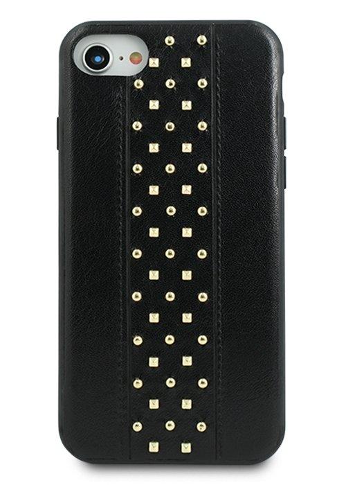 Чехол для iPhone 7/8 Кожаный Elements (Черный)