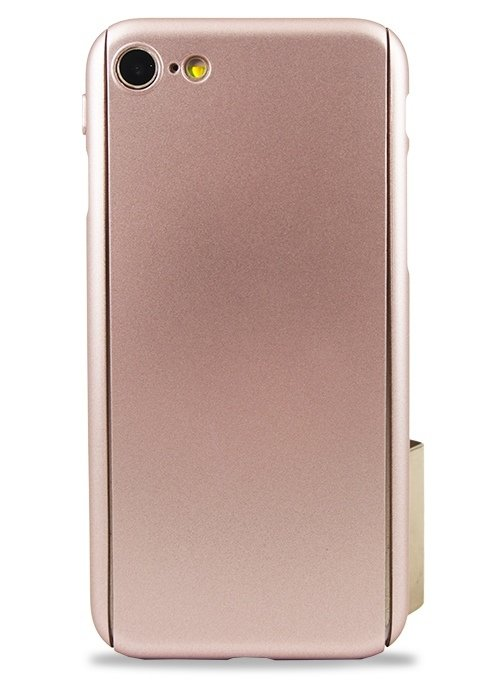 Чехол для iPhone 7/8 Чехол-стекло Soft touch (Бронза)