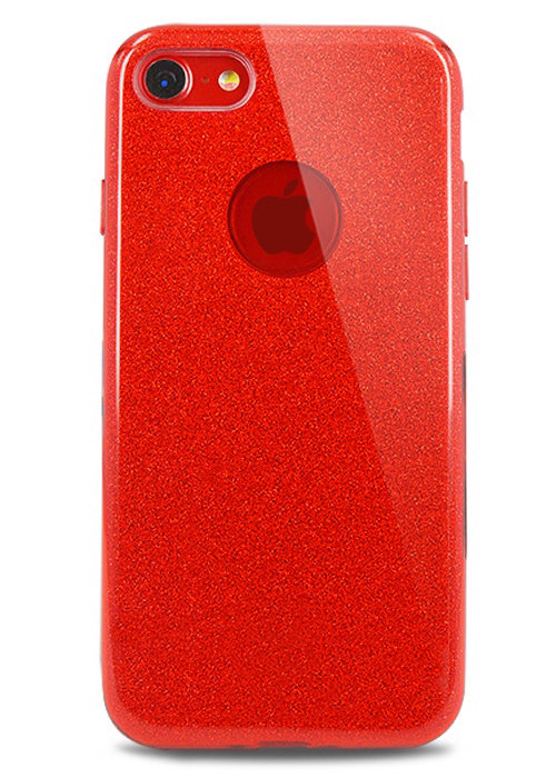 Чехол для iPhone 8 Sheer New силикон (Красный)