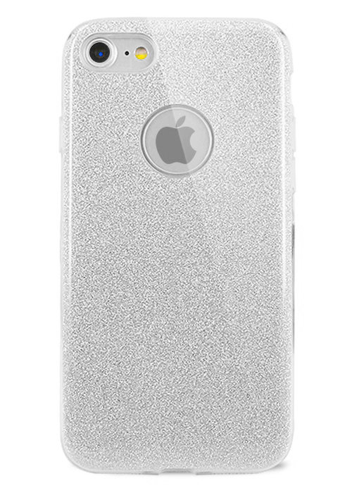 Чехол для iPhone 8 Sheer New силикон (Серебро)