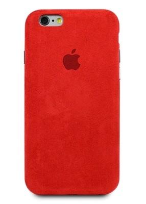 Чехол для iPhone 6/6S Alcantara Premium (Красный)