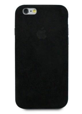 Чехол для iPhone 6/6S Alcantara Premium (Черный)