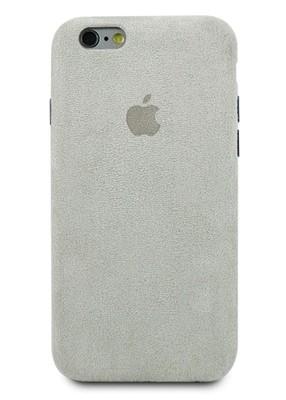 Чехол для iPhone 6/6S Alcantara Premium (Серый)