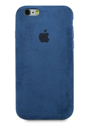 Чехол для iPhone 6/6S Alcantara Premium (Синий)