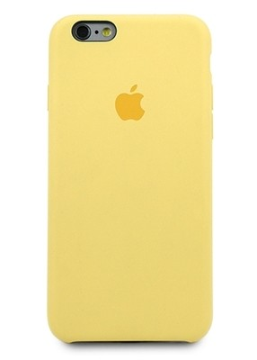 Чехол для iPhone 6/6S Apple Silicone Case Lux (Yellow)