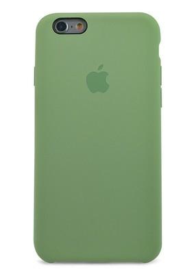 Чехол для iPhone 6+/6S+ Apple Silicone Case Premium (Фисташковый)