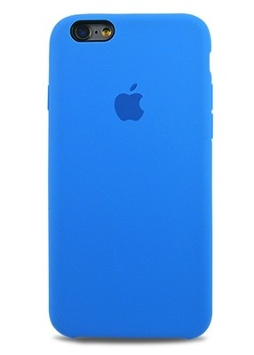 Чехол для iPhone 6+/6S+ Apple Silicone Case Premium (Лазурный)