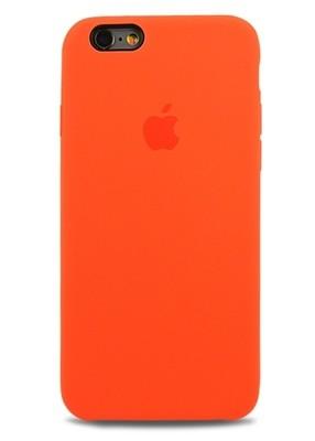 Чехол для iPhone 6+/6S+ Apple Silicone Case Premium (Оранжевый)