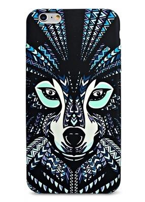Чехол для iPhone 6+/6S+ Art Animals (Волк)