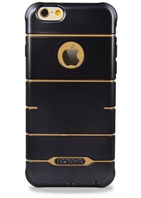 Чехол для iPhone 6+/6S+ BeckBerg Anti-Shock (Черный глянец)