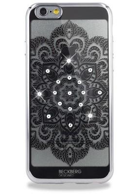 Чехол для iPhone 6+/6S+ Beckberg Мандала по центру (Серебро)