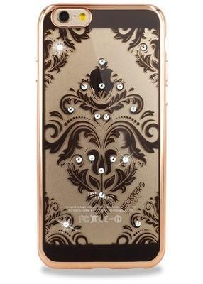 Чехол для iPhone 6+/6S+ Beckberg Мандала узор по центру (Золото)