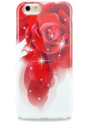 Чехол для iPhone 6+/6S+ Beckberg Цветной силикон (Роза)