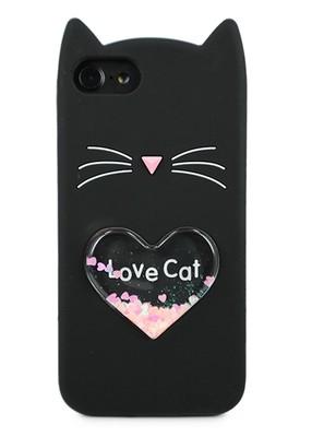 Чехол для iPhone 6/7/8 Love Cat (Черный)