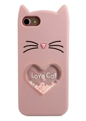 Чехол для iPhone 6/7/8 Love Cat (Розовый)